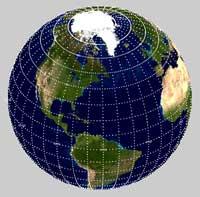 Bản đồ trái đất và các hành tinh