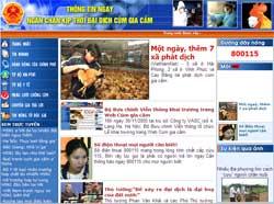 Khai trương trang web về cúm gia cầm