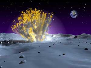 Thiên thạch tấn công Mặt trăng