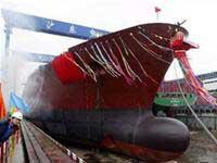 Hạ thủy tàu khí hóa lỏng đầu tiên của Trung Quốc