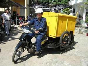 Thử nghiệm thành công xe chở rác bằng gas