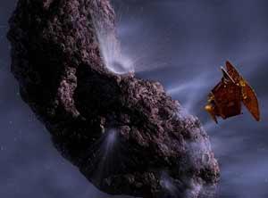 Bề mặt sao chổi Tempel 1 có chứa băng