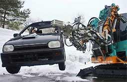 Nhật Bản chế tạo robot cứu hộ vùng ngập tuyết
