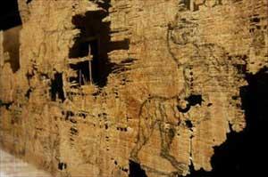 Trưng bày bản đồ cổ nhất phương Tây được vẽ trên giấy papyrus