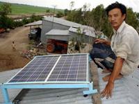 Nông dân biến năng lượng mặt trời thành điện