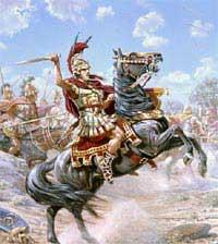 Bức tường cổ tôn vinh Alexander Đại đế