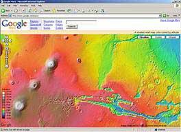 Google giới thiệu dịch vụ bản đồ sao Hỏa