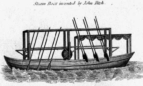 Con tàu dùng mái chèo thẳng đứng của Fitch