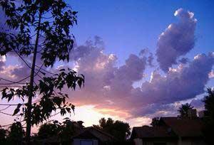 Ráng mây sinh ra như thế nào?