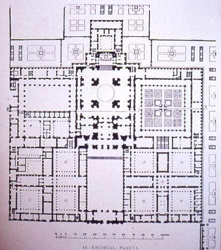 Bản vẽ sơ đồ đan viên Escorial