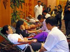 Cảnh hiến máu tại Hà Nội