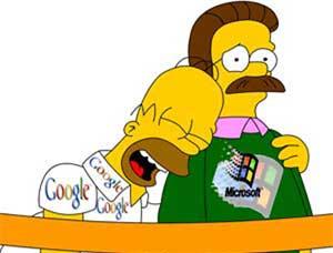 Google, Microsoft thượng đài quyết đấu