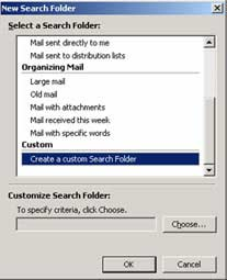 "Sử dụng ""Seach folders"" trong Microsoft Outlook 2003"