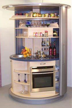 Một mẫu thiết bị nhà bếp thu gọn, có thể xoay tròn 180 độ của hãng CC - Concepts.