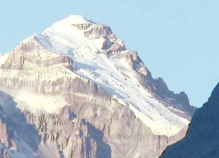 Ngọn Aconcagua cao khoảng 6.964m và cũng là núi lửa đã ngừng hoạt động cao nhất thế giới.