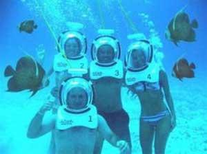 Thở dưới nước giống như trên cạn bằng thiết bị lặn kiểu mới