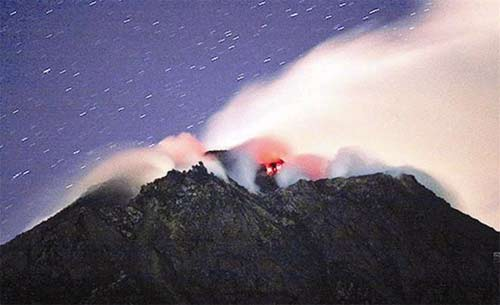 Lo ngại từ núi lửa Indonesia