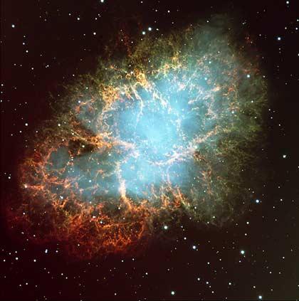 Vết tích nổ của sao siêu mới - Tinh vân cua