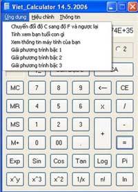 Giải phương trình với Viet_Calculator