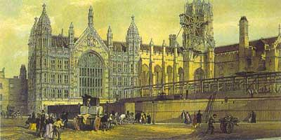 Cảnh nhìn băng qua Sân cung điện hướng về Mái cổng St Stephen