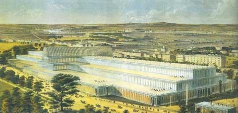 Cung điện Pha lê được xem là một hệ thống bỏ ngỏ được làm từ một bộ đồ gồm nhiều bộ phận sản xuất công nghiệp được ráp nối lại.