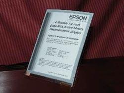 Seiko giới thiệu giấy điện tử độ phân giải cao
