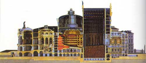 Mô hình mặt cắt bóc vỏ nhà hát Opéra