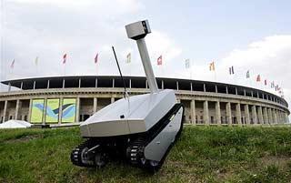 Robot được dùng để bảo vệ World Cup