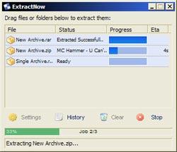 Extract Now, giải nén cùng lúc nhiều tập tin