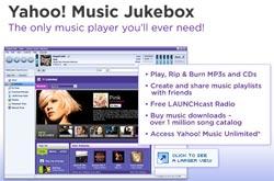 Bộ mặt mới của dịch vụ nhạc trực tuyến Yahoo