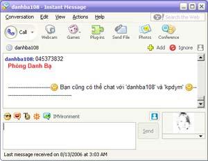 Tra cứu điện thoại cố định bằng Yahoo! Messenger