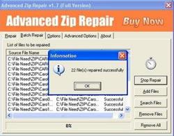 "Sửa lỗi file nén Zip bằng ""Advanced Zip Repair"""