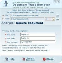 """Tìm hiểu tài liệu bằng """"Document Trace Remover"""""""