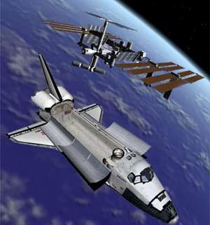 Tàu vũ trụ Atlantis cập bến ISS suôn sẻ
