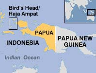 Khu vực tìm thấy các loài sinh vật mới ở Indonesia, trong khung