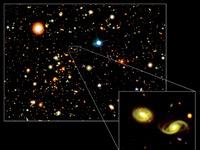 Bullet Cluster được tạo ra bởi sự đụng độ giữa hai đám thiên hà