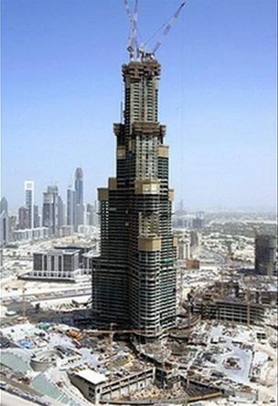 Tháp Burj Dubai đã xây được 79 tầng tính đến ngày 29/10.