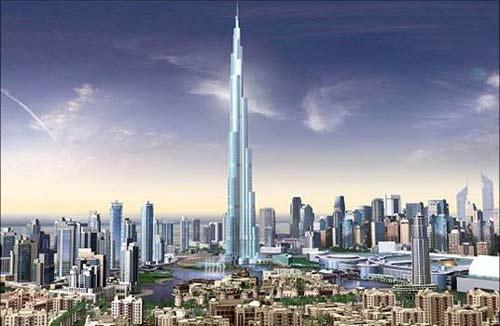 Tòa tháp cao nhất thế giới đang thành hình