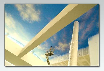 """Khi trần nhà biến thành """"bầu trời"""""""