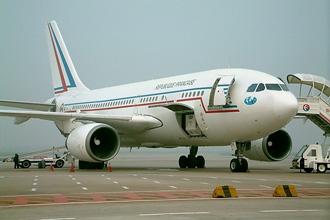 Chiếc chuyên cơ Airbus của Tổng thống Pháp Jacques Chirac.