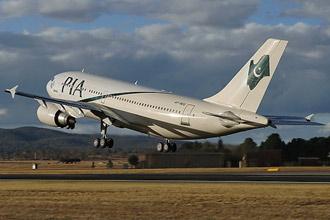 Chuyên cơ Airbus A310-308 chở Tổng thống Pervez Musharraf.