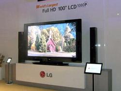 Màn hình LCD 100 inch của LG lập kỷ lục Guinness