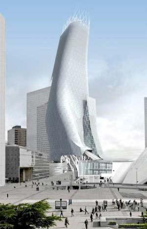 Phối cảnh cao ốc Phare của kiến trúc sư Mayne.