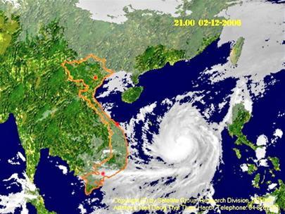 Tối nay, tâm bão Durian đổ bộ vào Khánh Hòa - Ninh Thuận