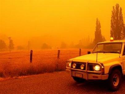 Khói mù do cháy rừng.