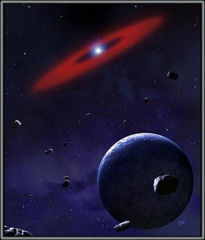 Sao lùn trắng xé nát một hành tinh