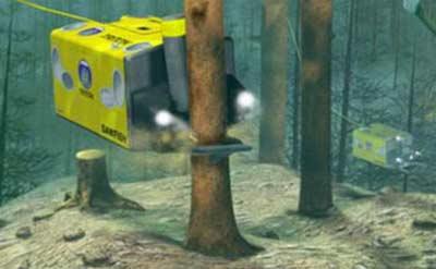Robot cưa gỗ dưới nước