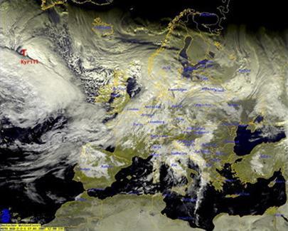 Bão lớn ở Bắc và Trung Âu