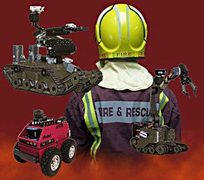 Robot hỗ trợ lính cứu hỏa