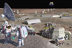 Mô hình về căn cứ tương lai trên mặt trăng